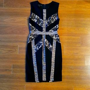 BCBG dress with lace panels